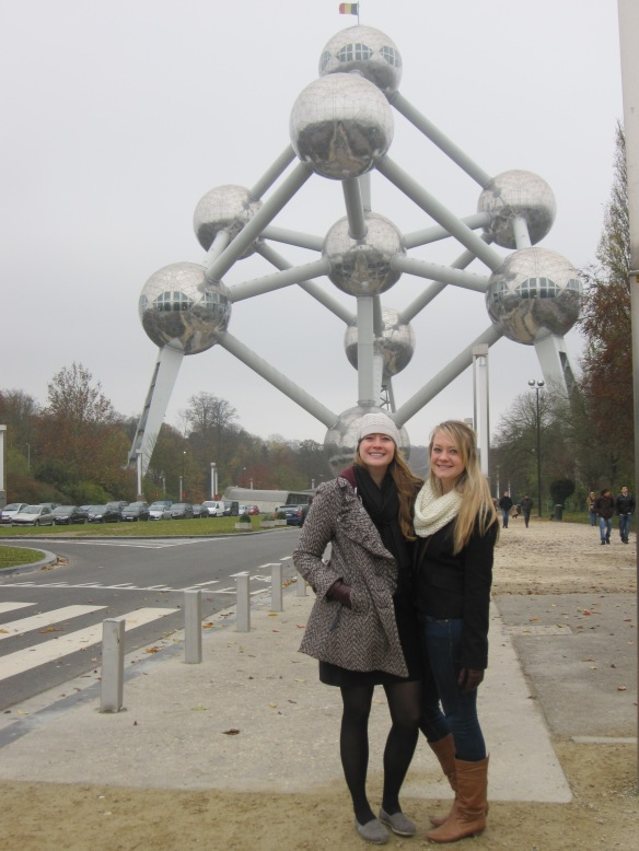 Adrian and Maddie at the Atomium
