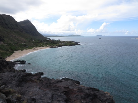 Scenic outlook along Oahu's west shore