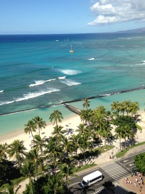 Waikiki from my hotel room