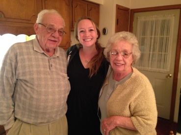 Grandpa, me and Grandma