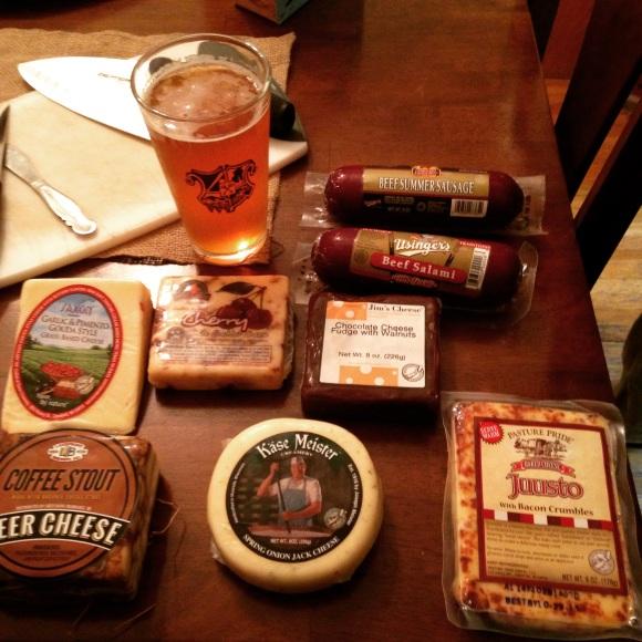 Cheese and Salami Tasting