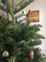 Ornaments from Poland, Slovenia, Puerto Rico, Chicago and to celebrate our first married Christmas